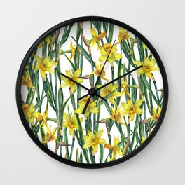 Spring's fragrances. Narcissuses. Wall Clock