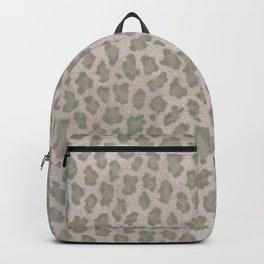Vintage grange pastel color leopard print Backpack