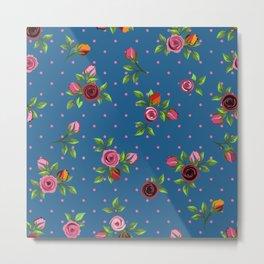 Boho Floral Metal Print