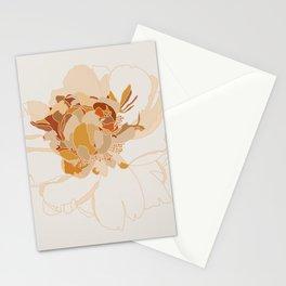 Peony Line Art II Stationery Cards