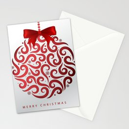 Decorative Christmas Ornament Pattern Stationery Cards
