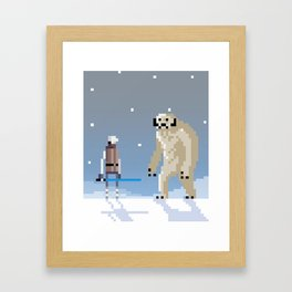 Luke Vs. Wampa Framed Art Print
