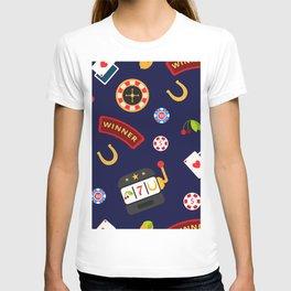 casino pattern T-shirt