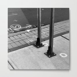 Sidewalk Signage Metal Print