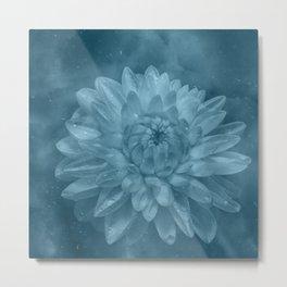 Grunge Flower texture Metal Print