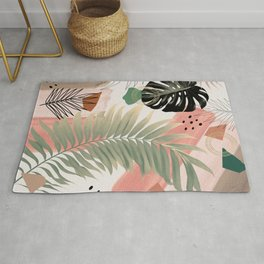 Palm Leaf Summer Glam #1 #tropical #decor #art #society6 Rug