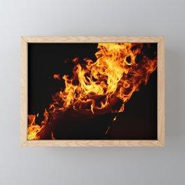 Flame Framed Mini Art Print