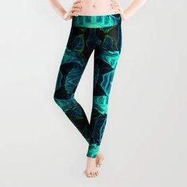 Psychedelic Kaleidoscope Leaf Pattern Leggings