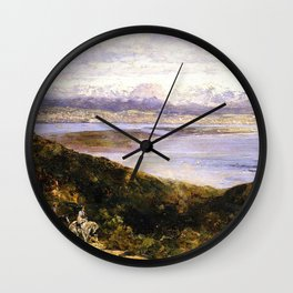 San Diego Bay From Point Loma 1907 By Thomas Hill | Reproduction Wall Clock