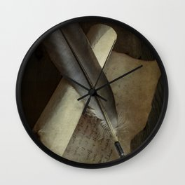 Unfinished letter Wall Clock