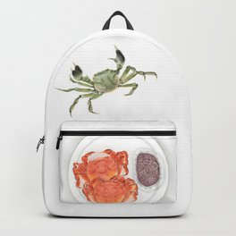 Watercolor Illustration | Chinese Cuisine | Hairy Crab | 大闸蟹 Backpack