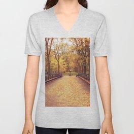 That Autumn Feeling - Autumn in New York Unisex V-Neck