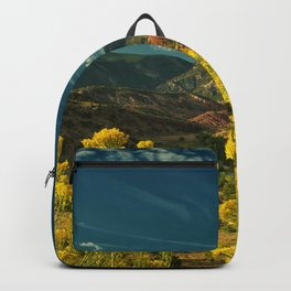 USA Abiquiu New Mexico Nature mountain Sky Grasslands Mountains Meadow Backpack