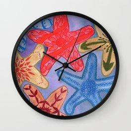 Ornamental Starfish Wall Clock