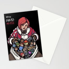 Merry ChristMass Effect Stationery Cards