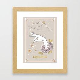 Aquarius Zodiac Sign Framed Art Print