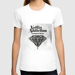 """The Velvet Addiction artwork for single release """"Diamond in The Sky"""" T-shirt"""