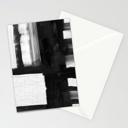 Black and white abstract texture Stationery Cards