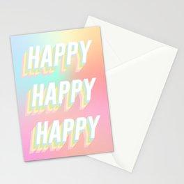 Choose HAPPY - rainbow #positivity Stationery Cards