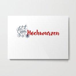 Snow in Hochwurzen Metal Print