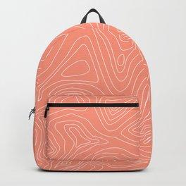 Ocean depth map - coral Backpack