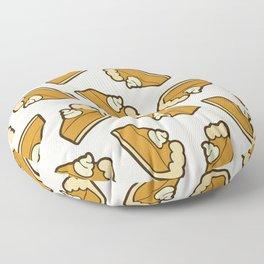 Pumpkin Pie Pattern Floor Pillow
