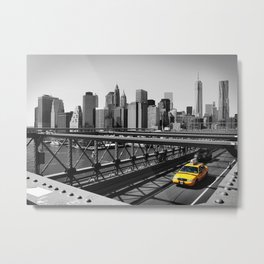 New York City Yellow Cab, NYC Taxi Metal Print