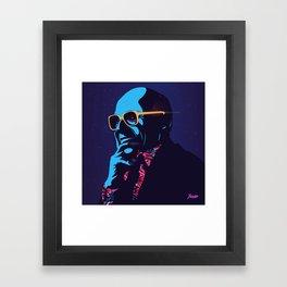 """""""Milton Friedman"""" Portrait Framed Art Print"""