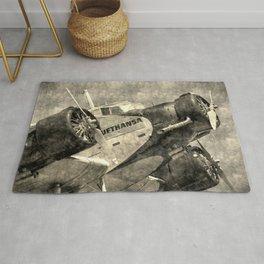 Lufthansa Junkers Ju 52 Vintage Rug