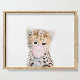 Bubble Gum Cheetah Cub Serving Tray