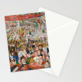 Christ's Entry into Brussels by James Ensor, 1889 Stationery Cards
