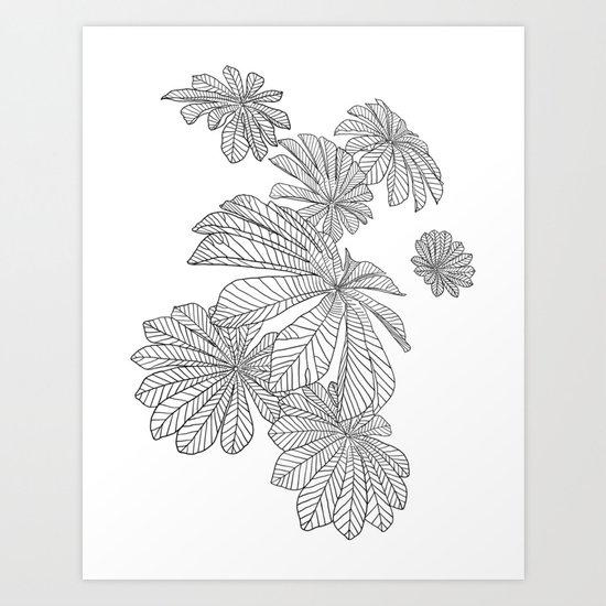 Tropical Leaves Line Art Art Print By Lamaisondulapino Society6 Doodle tropical plants frame border black white vector. tropical leaves line art art print by lamaisondulapino