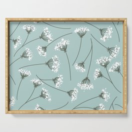 Queen Anne's Lace Floral Pattern Serving Tray
