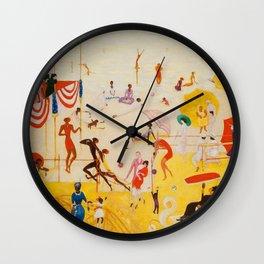 African American Masterpiece 'Summertime, Asbury Park, South' by Florine Stettheimer Wall Clock