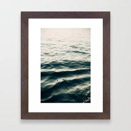 Indigo Waves Framed Art Print