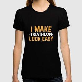 Triathlon Sport fun marathon gift T-shirt