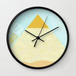 World Wonder: Great Pyramid at Giza Wall Clock
