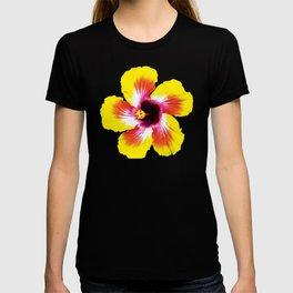 Hibiscus in Yellow T-shirt