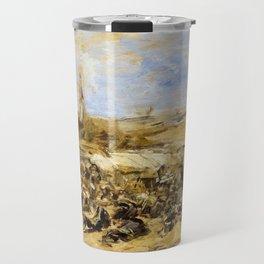 12,000pixel-500dpi - Eugene Louis Boudin - Pardon Of Ste-anne-la-palud - Digital Remastered Edition Travel Mug