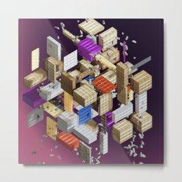 Cubes 005a Metal Print