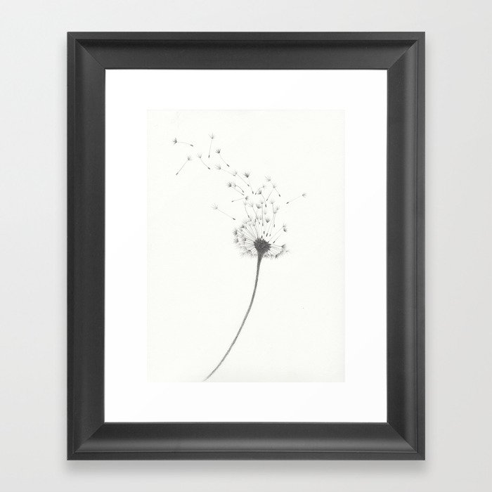 Dandelion Gerahmter Kunstdruck