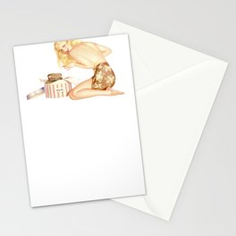 Retro Pin Up Girls Blonde Soldier Hat Bachelor Party Pinup Girl Stationery Cards
