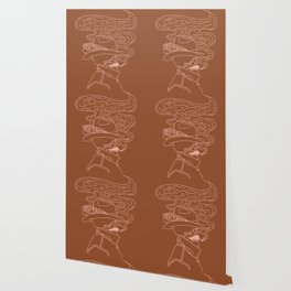 Love or Die Tryin' - Cowhand - Rust & Peach Wallpaper