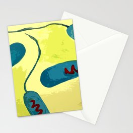 E. coli bacteria inspired illustration Stationery Cards