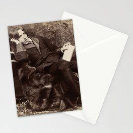 Oscar Wilde Lounging Portrait Stationery Cards