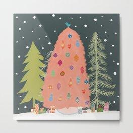 ' Christmas Trees - Holiday, Outside Illustration  Metal Print
