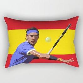 Rafael Nadal   Tennis Rectangular Pillow