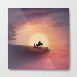 sunset piano melody Metal Print