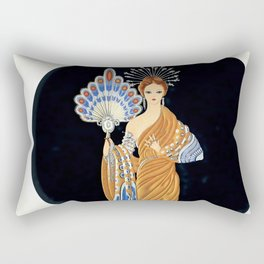 "Art Deco Illustration ""Athena"" Rectangular Pillow"