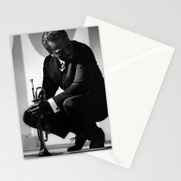 Black and White Photo of MilesDavis  Stationery Cards